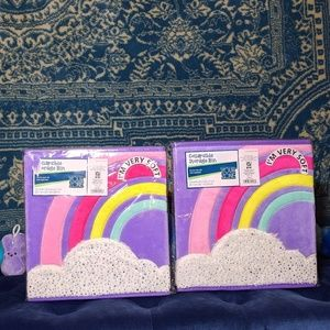 NWT 2 Rainbow Storage Cubes Bin Collapsible